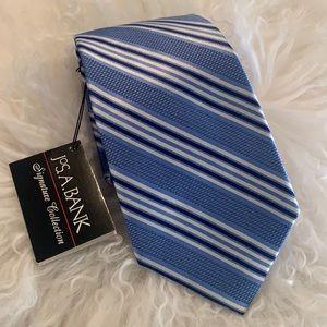 NWT JAB Men's Blue Silk Tie